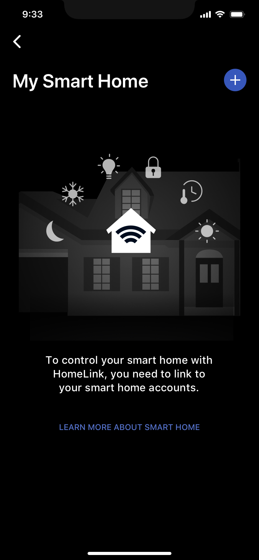 Smart Home Account Setup Step 2 screen graphic